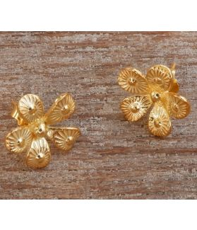Nova Earrings, 24-Karats Gold Plated Fine Karen Silver