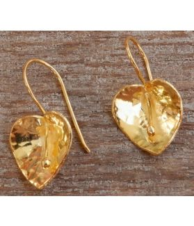 Rhea Earrings, 24-Karats Gold Plated Fine Karen Silver