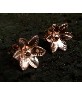 Wanniya Earrings, Pink Gold Plated Fine Karen Silver