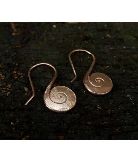 Allison Earrings, Pink Gold Plated Silver