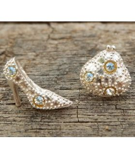 Reina Earrings, Sterling Silver, Aurore Boreale Swarovski