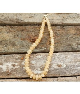 Soriya Necklace, Authentic Citrine, 24-Karats Gold Plated Silver