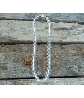 Halina Necklace, Clear Crystal Quartz, Fine Sterling Silver