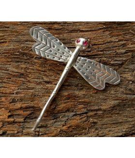 Dawn pendant, Fine Karen Silver, Rose Swarovski Crystal