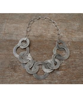 Aurora Necklace, Handcrafted Fine Silver