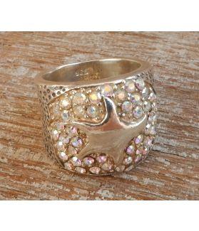 Chloe Ring, Sterling Silver, Swarovsky Crystals