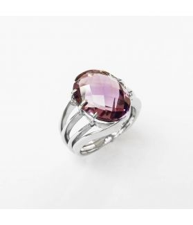 Romantic Purple Amethyst Sterling Silver Ring