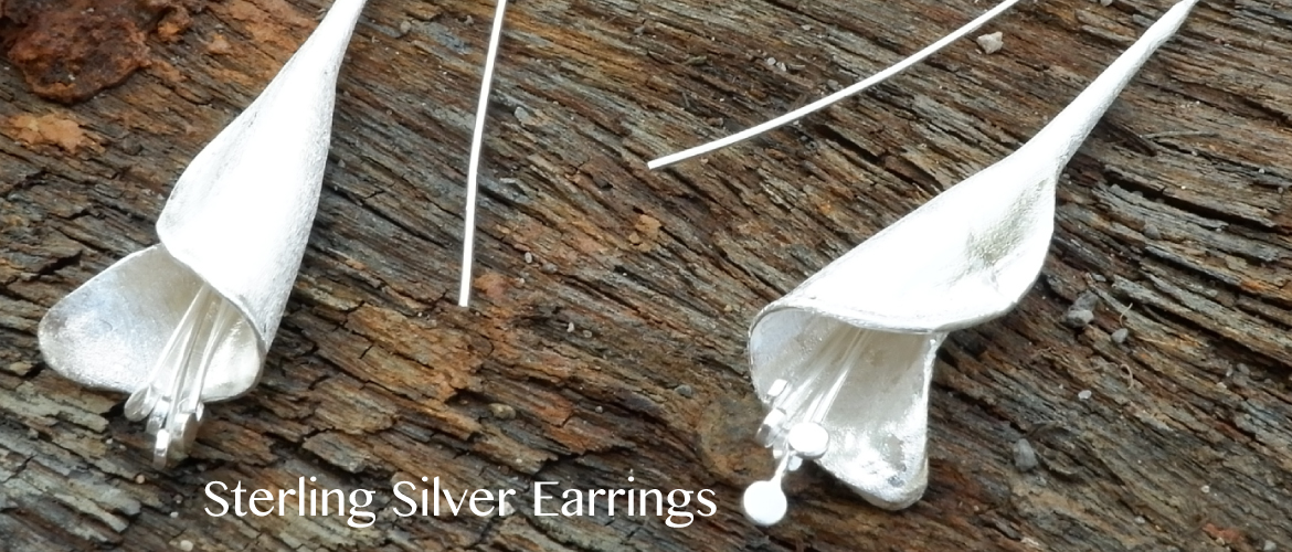 Highly polished sterling silver earrings available on Thailandhandicrafts.com, V1 Collection