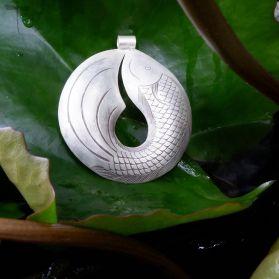 Karen Silver Fish Pendant