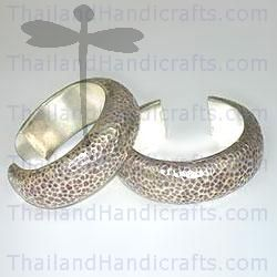 HILL TRIBE SILVER HAMMERED BANGLE