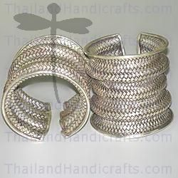 HILL TRIBE SILVER WOVEN BANGLE