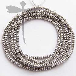 Fine Karen Silver Mini Seed Inspired Beads Strand