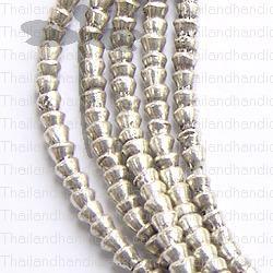 Fine Hill tribe Silver Mini Cone Beads Strand