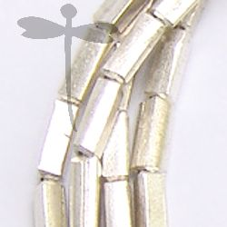 Fine Karen Silver Tiny Plain Rectangular Shaped Beads Strand