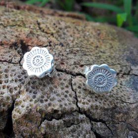Handcrafted Tribal Print Flower Studs earrings