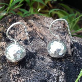 Karen Silver Rock Earrings