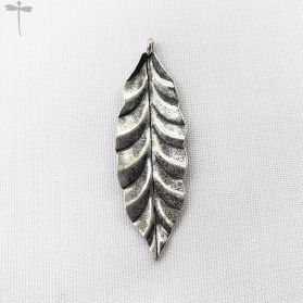 Authentic Fine Hill tribe Silver Leaf Pendant Large (Handcrafted)