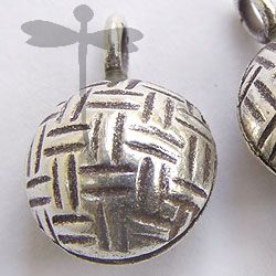 HILL TRIBE SILVER RATTAN BALL WITH BELL PENDANT