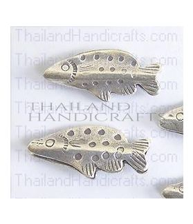 Hill Tribe Silver Rustic Fish Bead