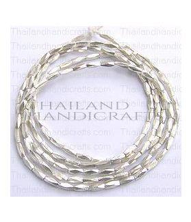 Fine Karen Silver Minimal Faceted Beads Strand