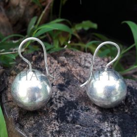 Hill Tribe Silver Ball Earrings