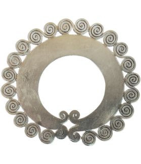 Hill Tribe Silver Round Pendant with multiple Spirals