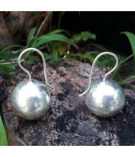 Hill Tribe Silver Ball Earrings