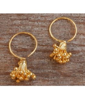 Evy Earrings, 24-Karats Gold Plated Fine Karen Silver